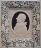 Резьба по кости. Портрет Ф.И. Шубина в ажурной рамке.